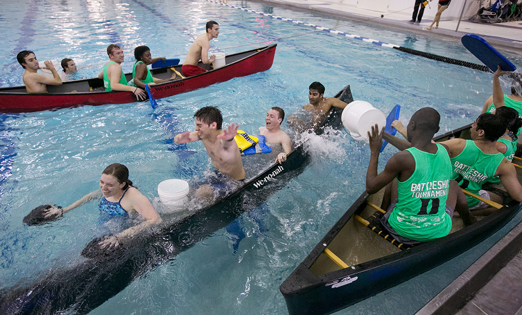 Students Dive Into Taishoff Pool For A Real Game Of Battleship Duke Today