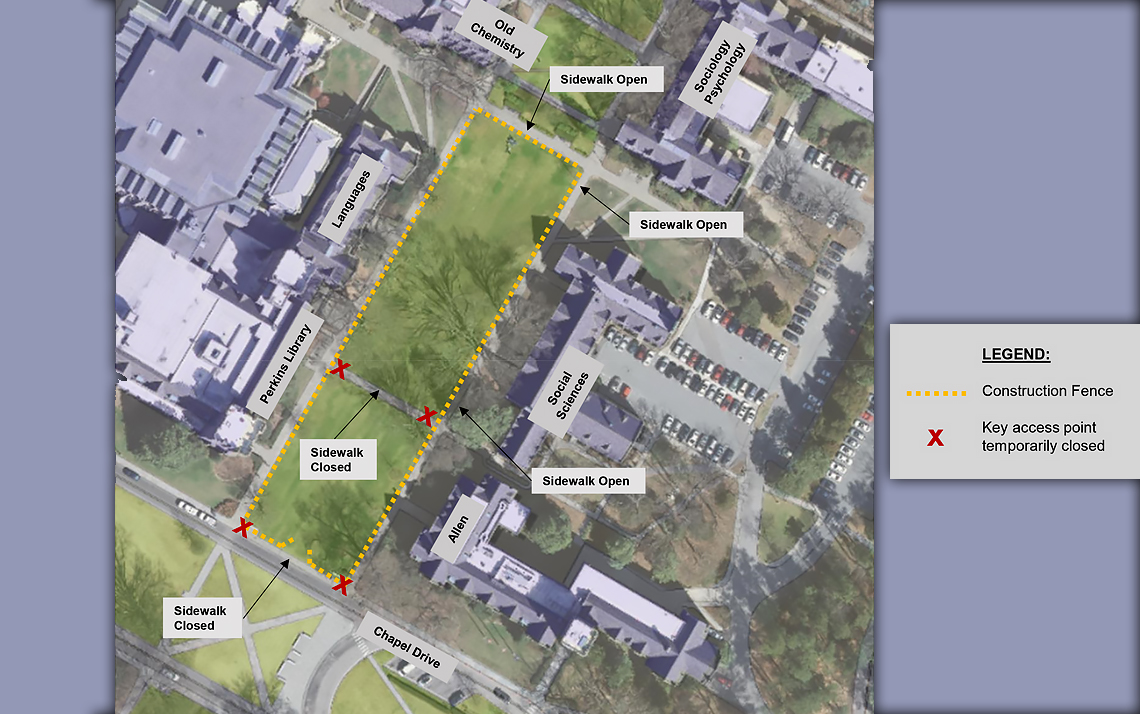 Map of work area for Abele Quad.