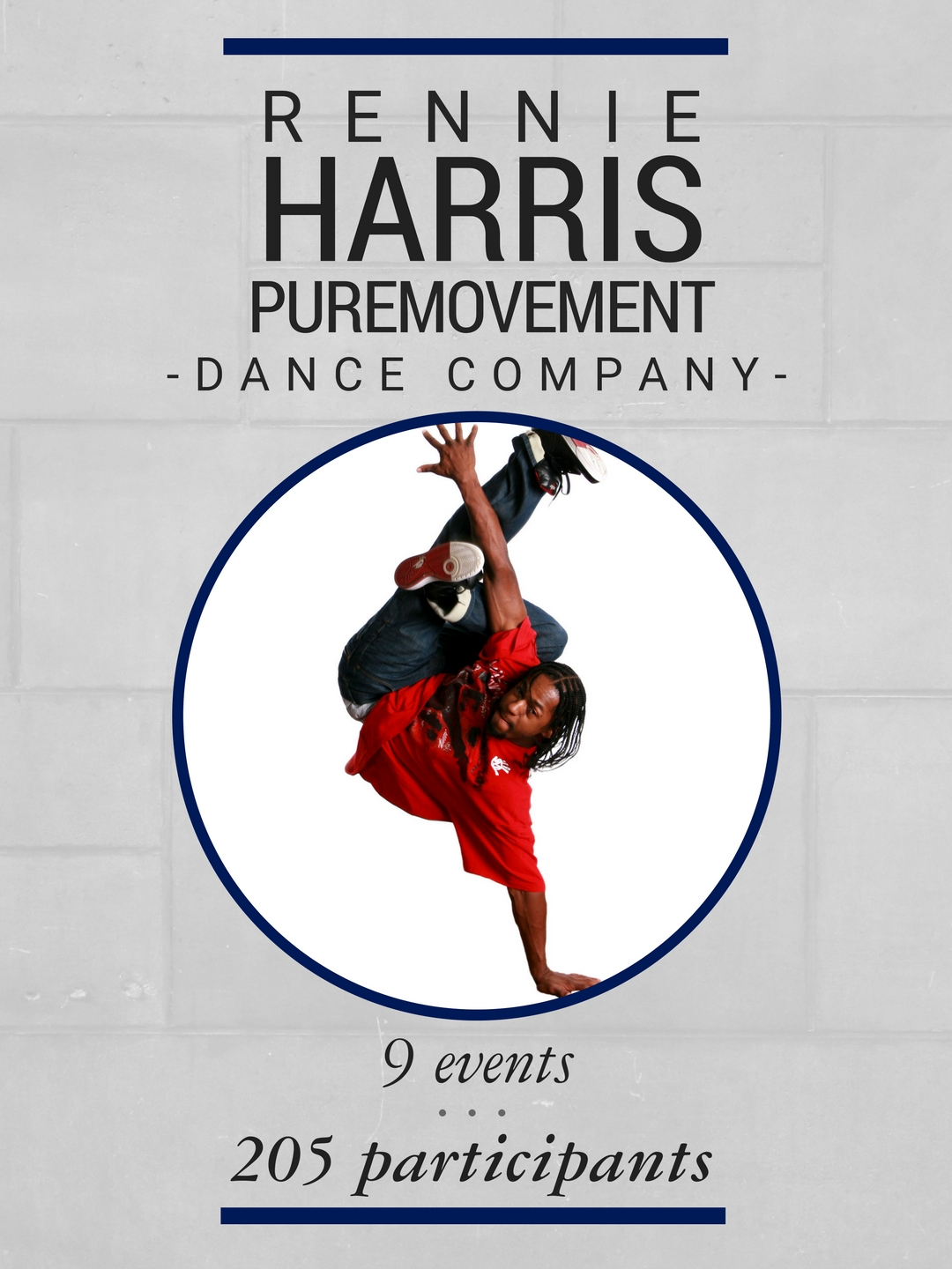 During their time on campus, the Rennie Harris Puremovement Dance Company hosted 9 events with 205 participants