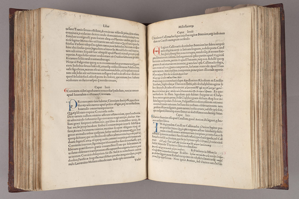 From the Rubenstein Library: A book by Poliziano, printed by the famous Aldine Press in Venice.