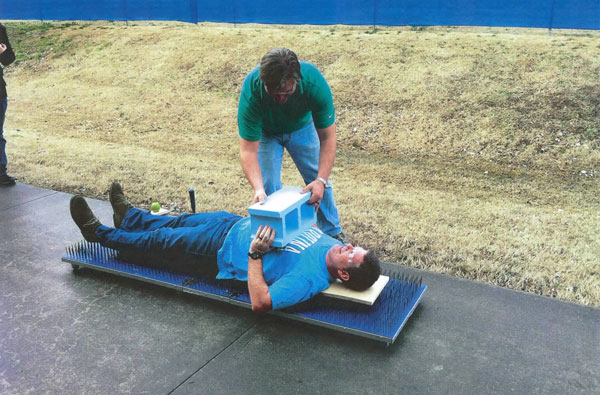 schaad on bed of nails