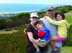 Jill Foster, left, and her husband, Matt, are seen here on vacation in California with Elijah and Michaela. Photo courtesy of Jill Foster.
