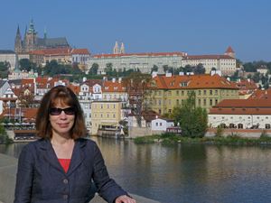 Kathryn Helene revitalizes herself with a two-week vacation each year. She is pictured here in Prague, the capital of the Czech Republic. Photo courtesy of Kathryn Helene.