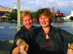 Kellie Johnson, right, with her partner, Laura Miller, while on vacation in Baltimore. Photo courtesy of Kellie Johnson.