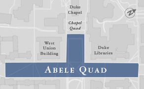 Map of the newly named Abele Quad