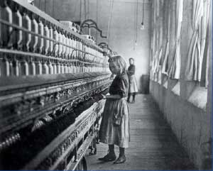 girl in cotton mill