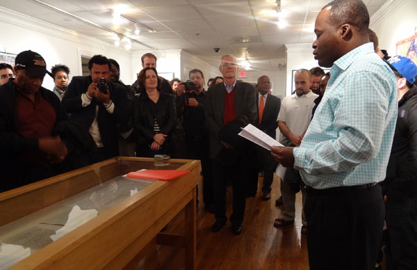 Reading of Haitian Declaration of Independence