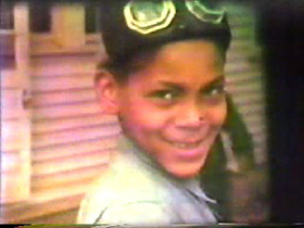 A young boy from the H. Lee Waters film from Mayodan.