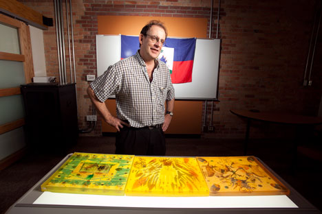 Author Madison Smartt Bell discusses the resin-block art work he did in the Haiti Lab.