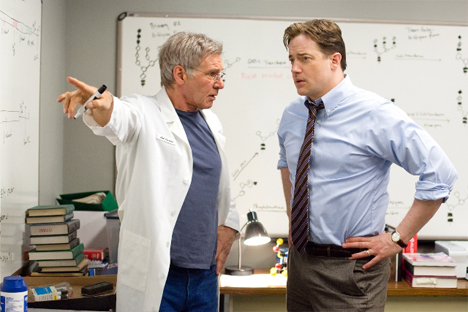 "Harrison Ford and Brendan Fraser star in ""Extraordinary Measures."""
