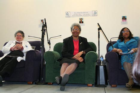 Drs. Brenda Armstrong, Joanne Wilson and Thelma Brown spoke at a 'Tea with Trailblazers'
