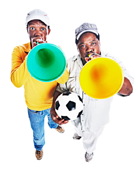 That noise you hear from the World Cup games are made by vuvuzelas, a popular instrument in South Africa.