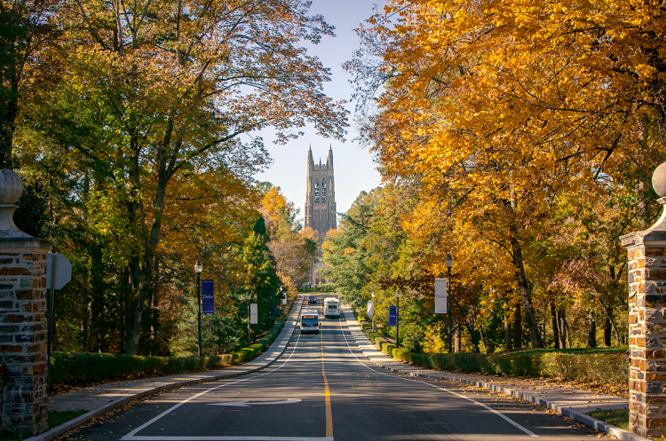 photo of Chapel Drive in the fall
