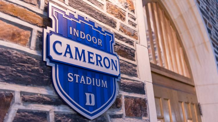 sign for Cameron Indoor Stadium