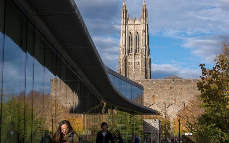 Duke Chapel seen from West Campus.