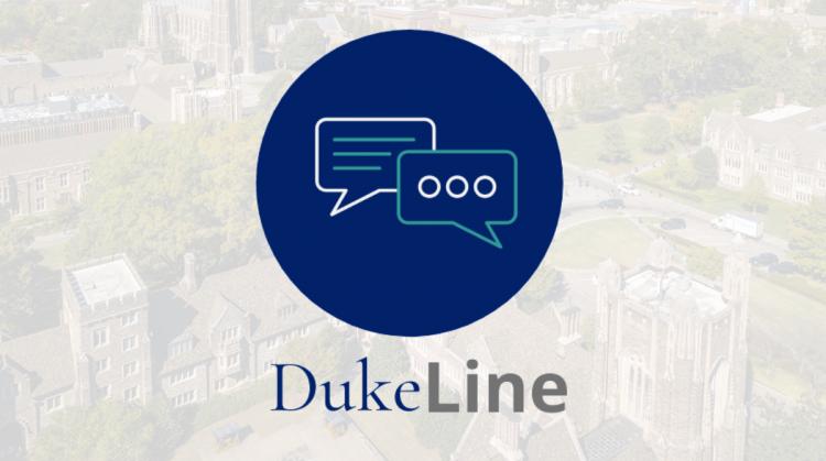 graphic logo for DukeLine peer support program