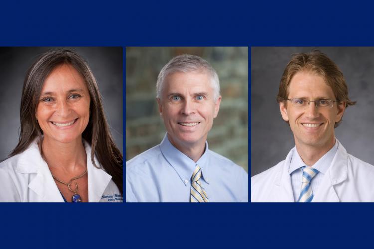 Doctors Viviana Martinez-Bianchi, Emmanuel Walter and Cameron Wolfe