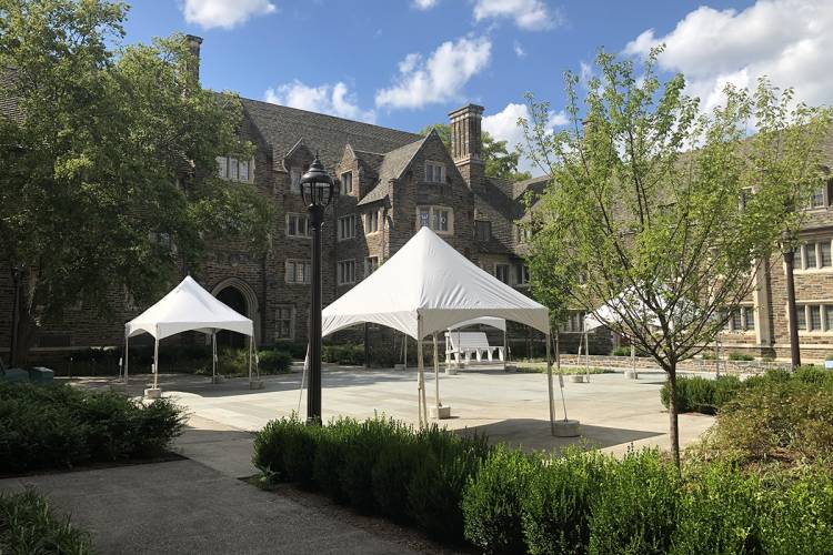 Tents in Craven Quad