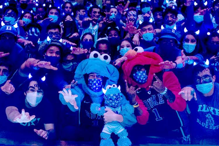Cookie Monsters appear at Cameron Indoor Stadium