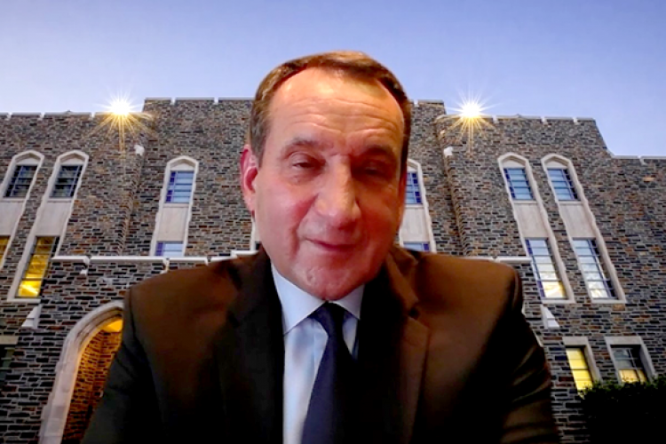 Coach K talks on Zoom