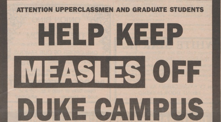 Chronicle article on measles vaccines