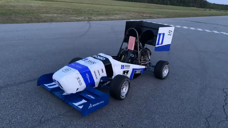 After overcoming a few hurdles in the morning, Duke Motorsports got their Formula-style racecar up to 80 MPH
