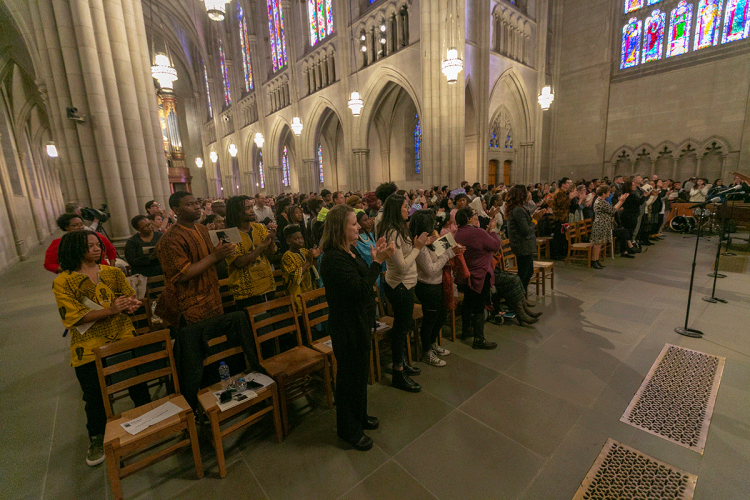 Duke Chapel was filled for the ceremony. Photo by Megan Mendenhall