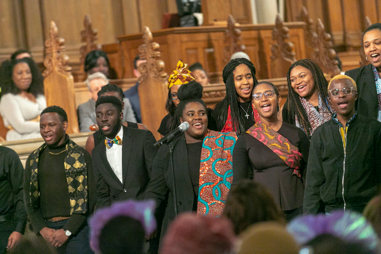The Amandla Chorus, Duke's first and only African choir, performed. Photos by Megan Mendenhall