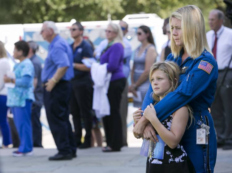 LifeFlight RN Molly Mayhood and daughter Bailey, 10.