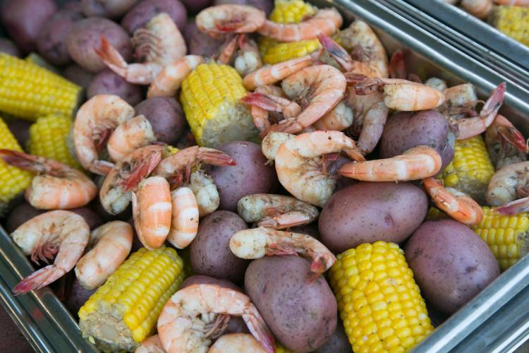the low country boil at PricePalooza.