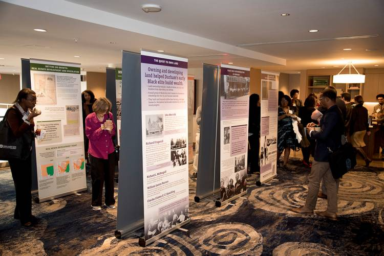 An exhibit on 150 years of Durham housing pattern was held in conjunction with the conference. Photo by Les Todd.
