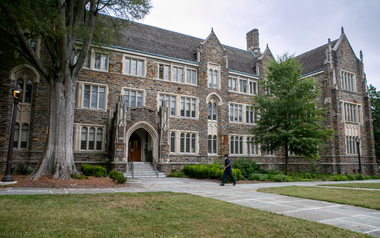 The Sociology-Psychology Building, which has been renamed the Reuben-Cooke Building.