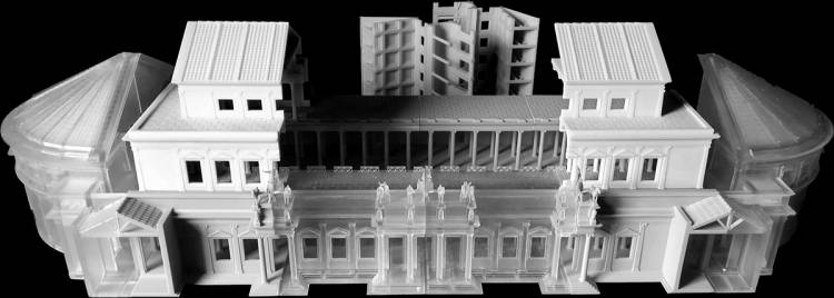 A 3-D reconstruction of what the Basilica looked like in ancient Rome.