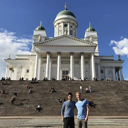 Engineering master's student Aditya Ramesh, pictured here in Helsinki, will continue his study in Finland.