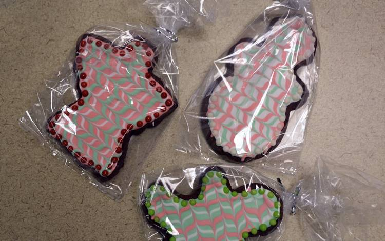 Mint Chocolate Cutout Cookies