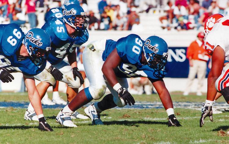 Troy Austin was a standout defensive lineman for Duke in the late 1990s. Photo courtesy of Duke Athletics.