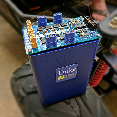 The Duke-developed battery and power converter at the heart of the new system.
