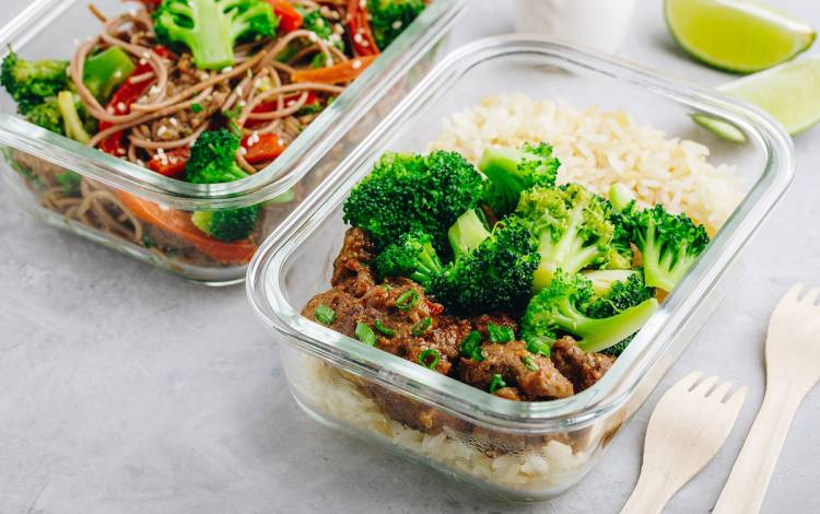 Store half of your takeout meal to eat at a later time.