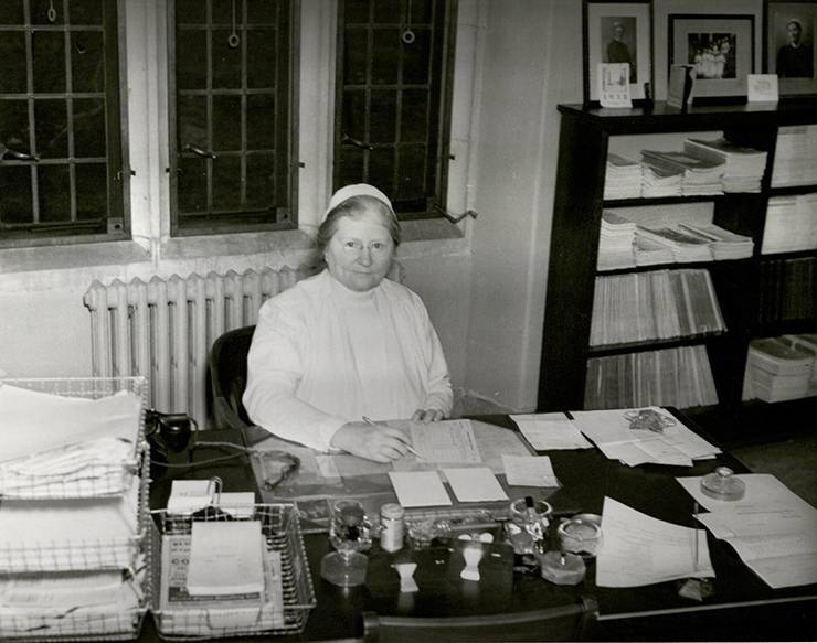 Bessie Baker led the Duke University School of Nursing from 1930 to 1938. Photo courtesy of Duke University Archives.