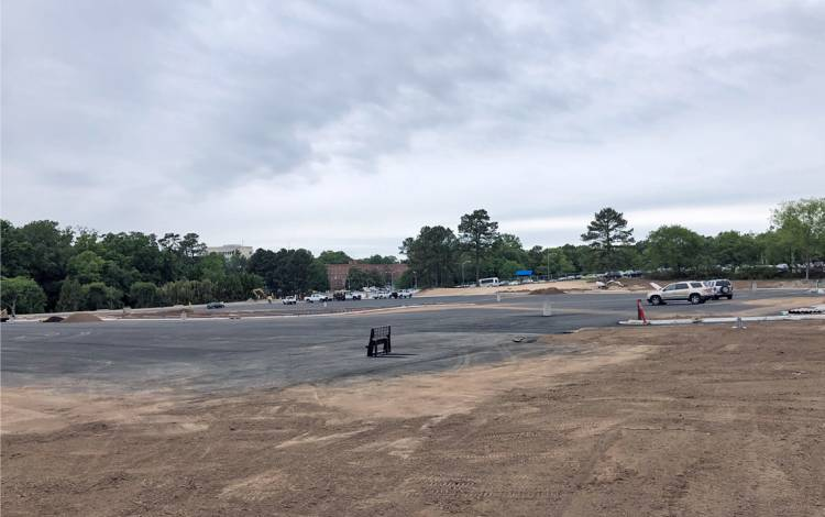 Central campus parking lot site.