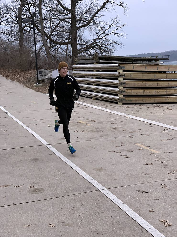 For Colin Wurster, shown here prior to the pandemic, running has always been a favorite pastime. Photo courtesy of Colin Wurster.