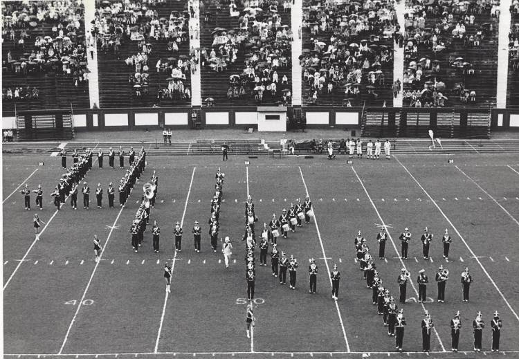 The Duke Marching Band in 1972.
