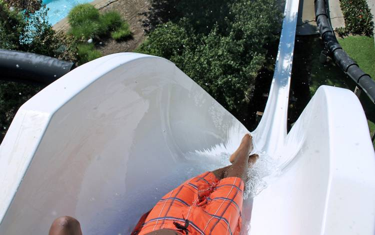 Daredevil Drop is a 76-foot water slide at Wet'n Wild Emerald Pointe. Photo courtesy of Emerald Pointe.