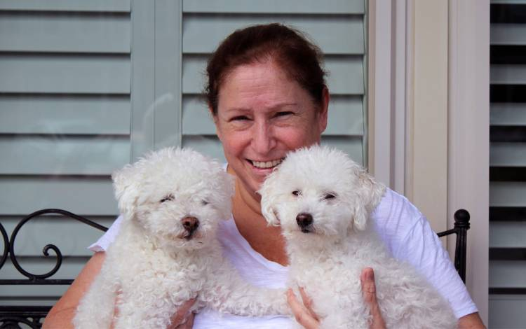 Donna Parrish enjoys spending her days off with her dogs Bennie, left, and Max, right. Photo courtesy of Donna Parrish.