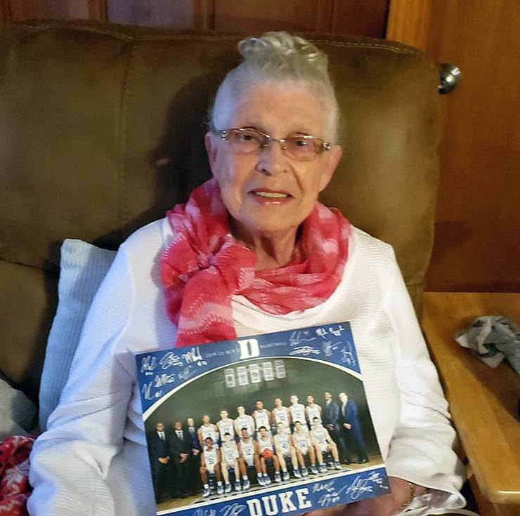 Donna Wilmoth is thankful for her mother, Betty Campbell, shown here. Photo courtesy of Donna Wilmoth.