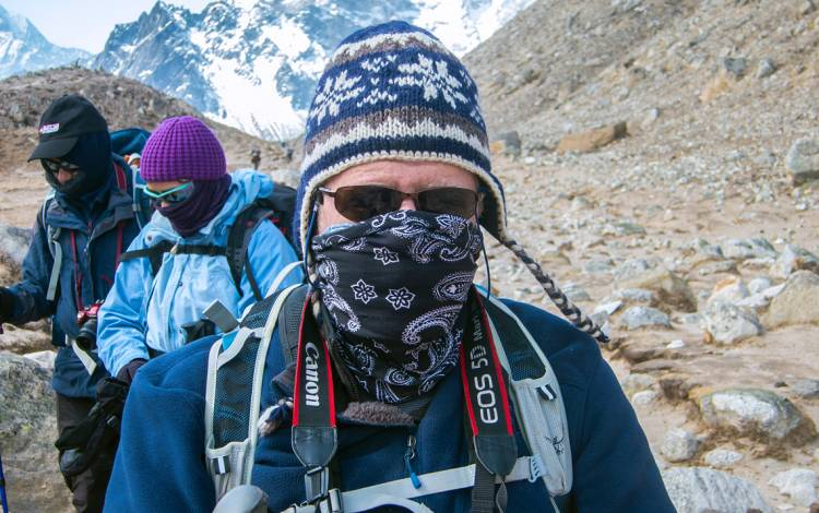 As part of his work, Richard Moon has twice traveled to base camp of Mount Everest to see how the body functions under extreme situations. Submitted photo.