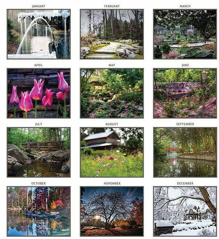 Scenes from the Duke Gardens calendar.