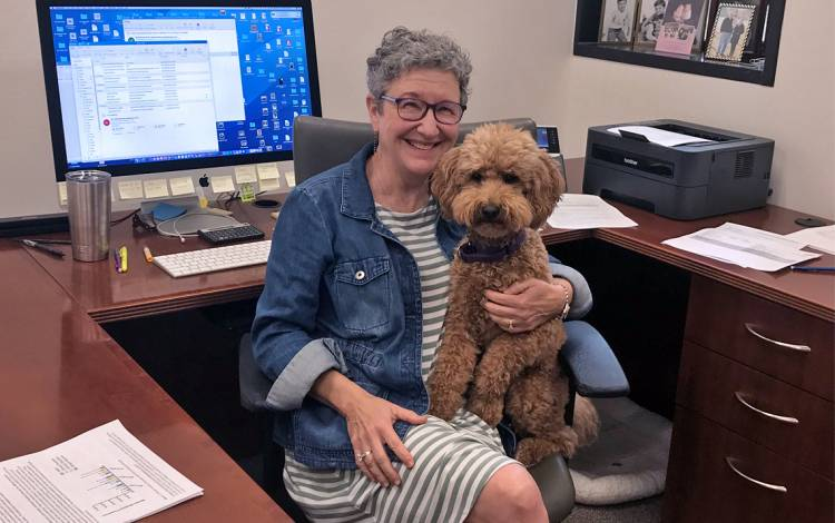 Sue Jinks-Robertson and Gracie. Photo courtesy of Sue Jinks-Robertson.