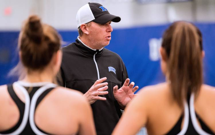 Duke Women's Tennis Coach Jamie Ashworth has led the Blue Devils to eight ACC titles. Photo courtesy of Duke Athletics.