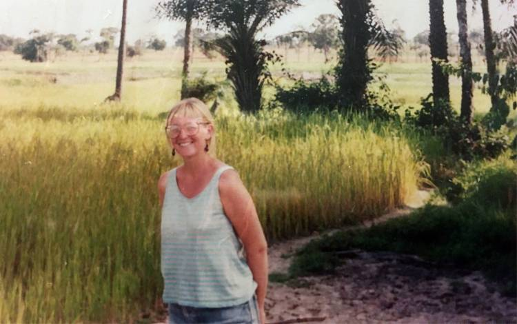Julia Gamble, shown here during her time in Senegal in the early 1990s, found her purpose while working with the Peace Corps in Africa. Photo courtesy of Julia Gamble.